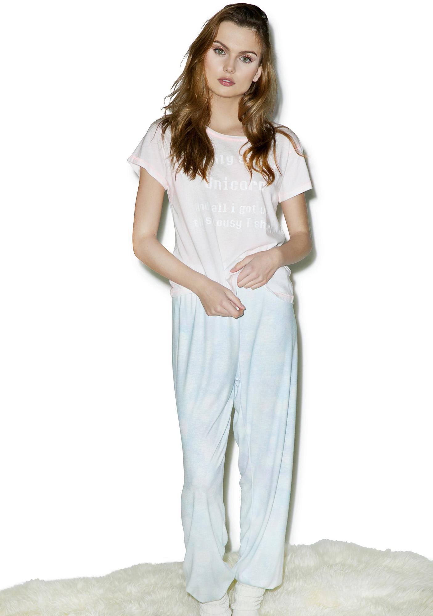Wildfox Couture Last Unicorn Sleepover Tee