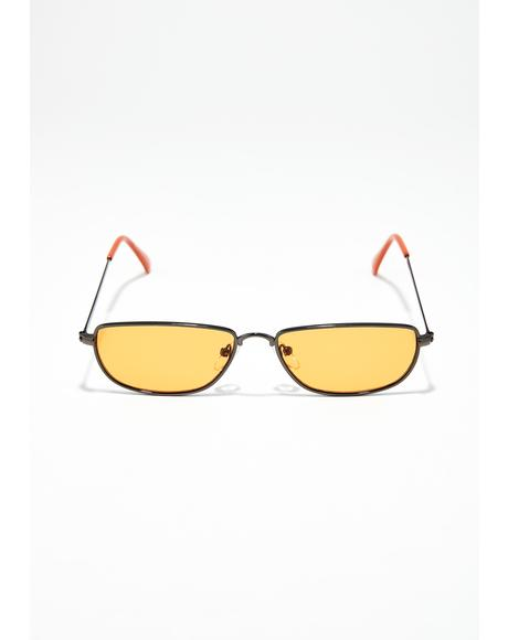 Juiced Sly Eyes Rectangle Sunglasses