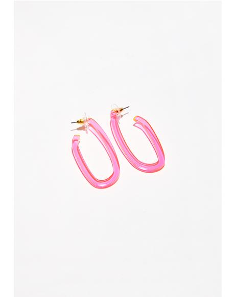 Feel The Beat Oval Earrings