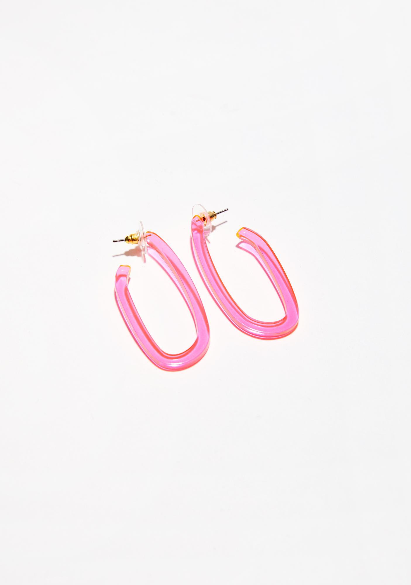 Feel The Beat Oval Earrings