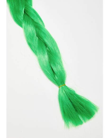 Neon Green Add In Hair Extensions