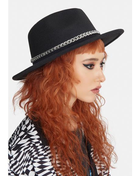 Lose Myself Chain Wide Brim Hat