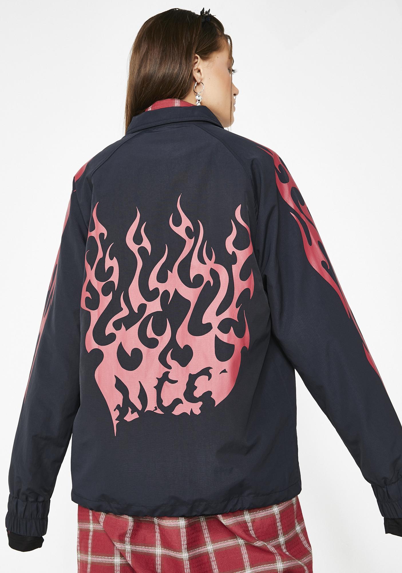 Not Common Sense Flame Coach Jacket