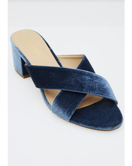 Makin' Waves Velvet Sandals