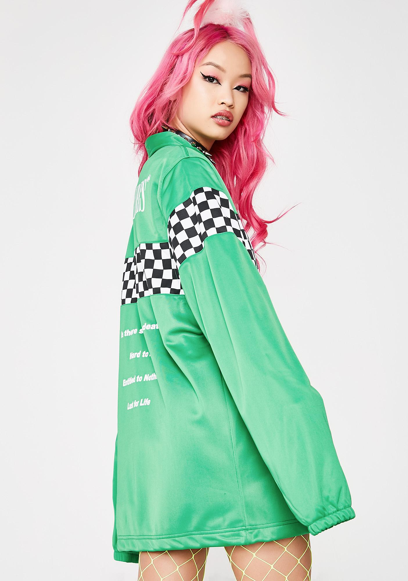 Pleasures Checkered Track Jacket