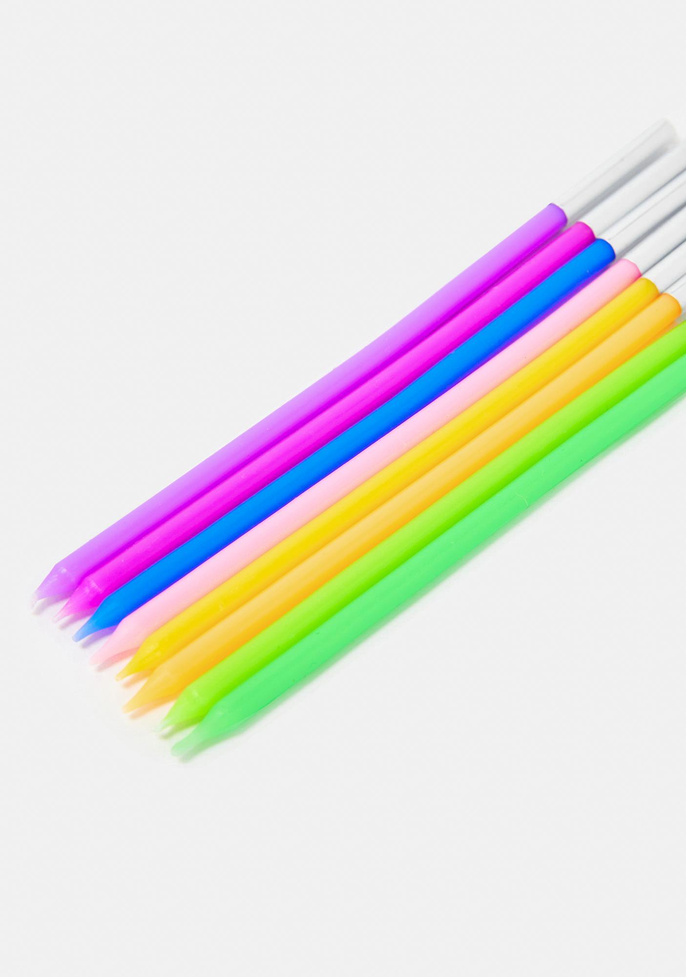 Kaleidoscopic Rainbow Candlestick Set