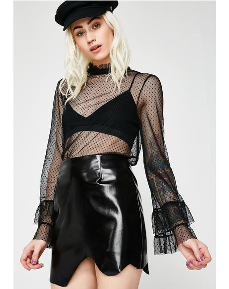 Shiny Thang Vinyl Skirt
