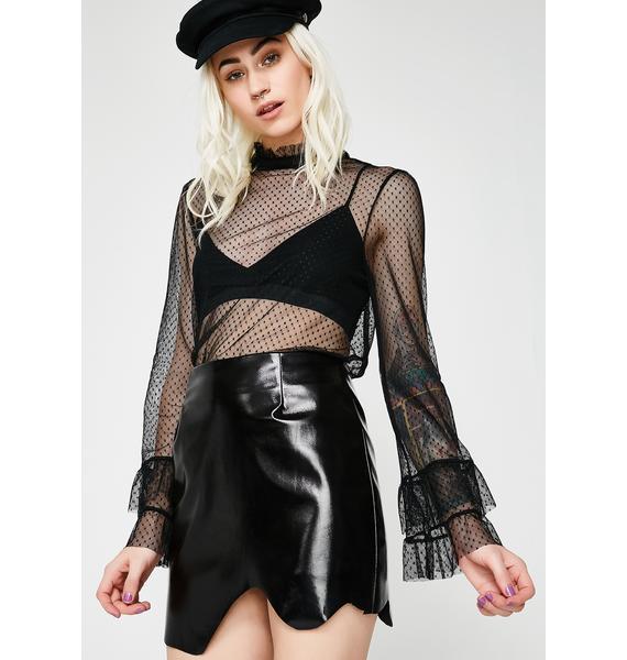 Kiki Riki Shiny Thang Vinyl Skirt