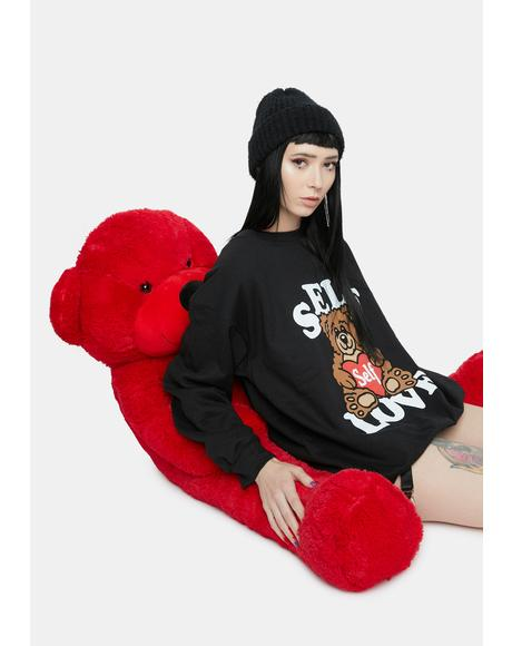 Self Love Teddy Crewneck Sweatshirt