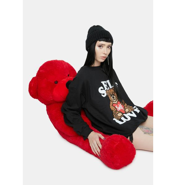 Petals and Peacocks Self Love Teddy Crewneck Sweatshirt