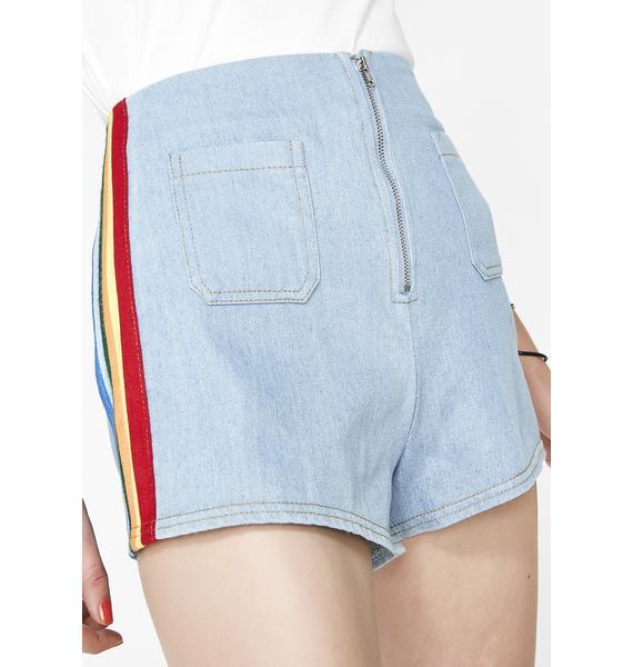 Talk That Trash Denim Shorts