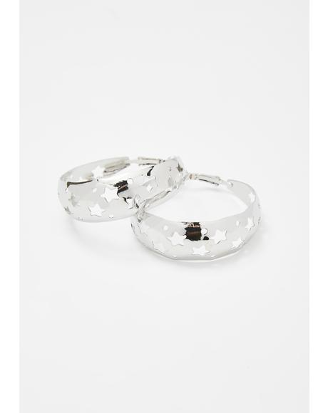 Upon A Star Hoop Earrings