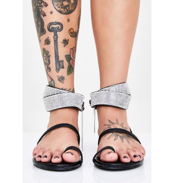 Bling Me To Life Rhinestone Sandals