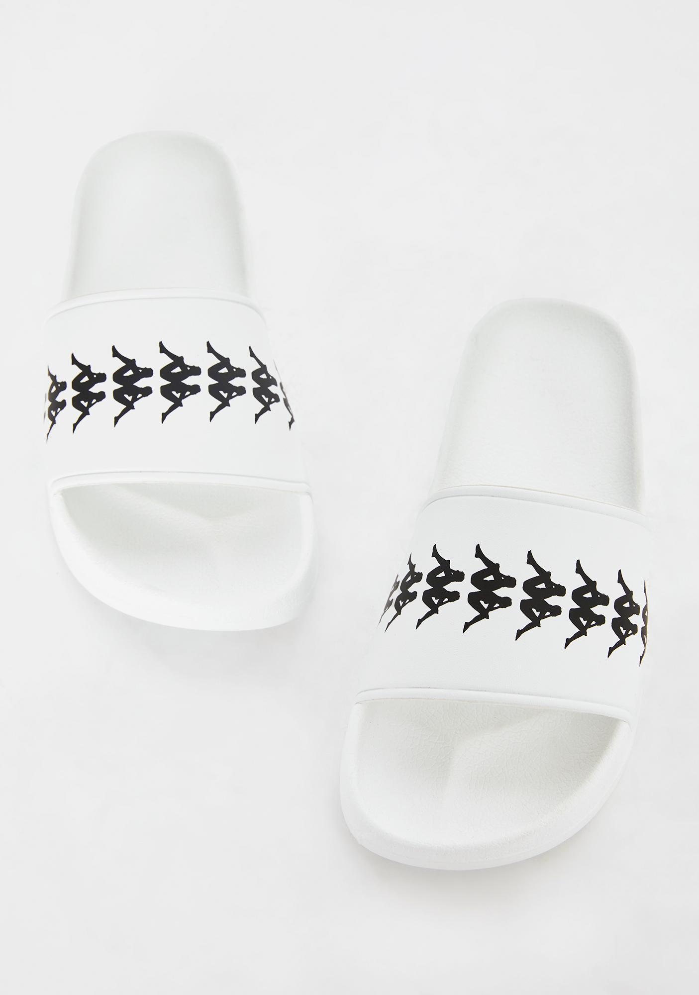 Kappa White 222 Banda Adam 4 Slides