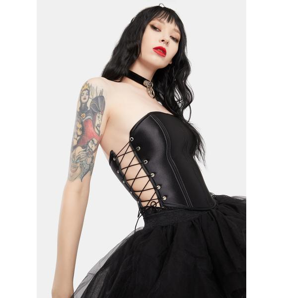 Kiki Riki Seek The Spotlight Lace Up Tube Top