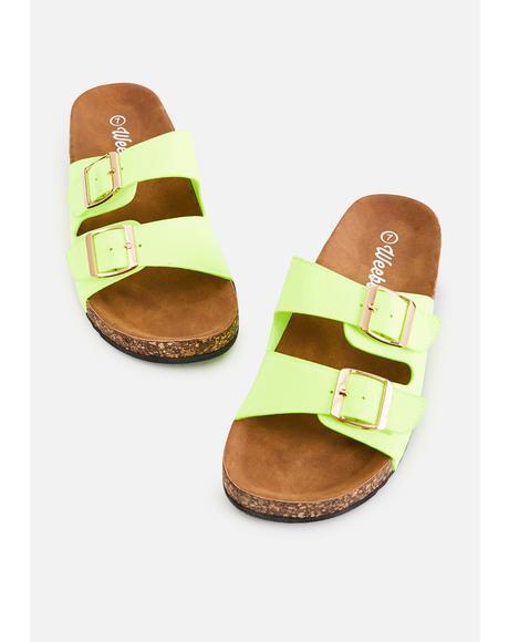 Island Sandy Paradise Buckle Sandals