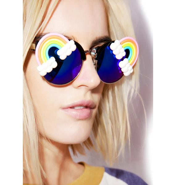 Gasoline Glamour Fantasia Neon Rainbow Acid Sunglasses