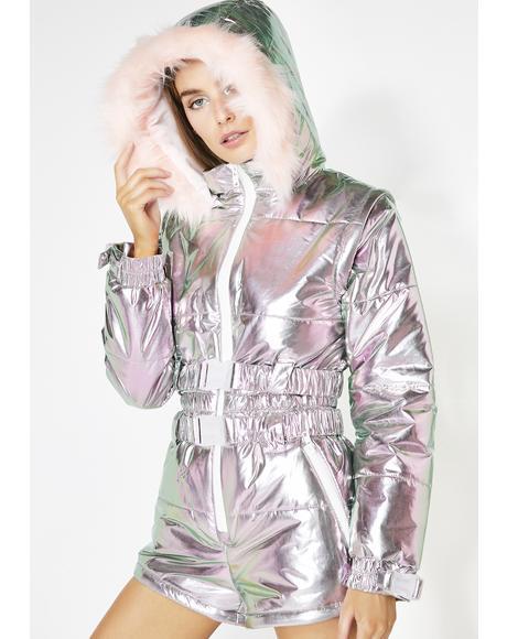 Aurora Beam Holographic Snowsuit