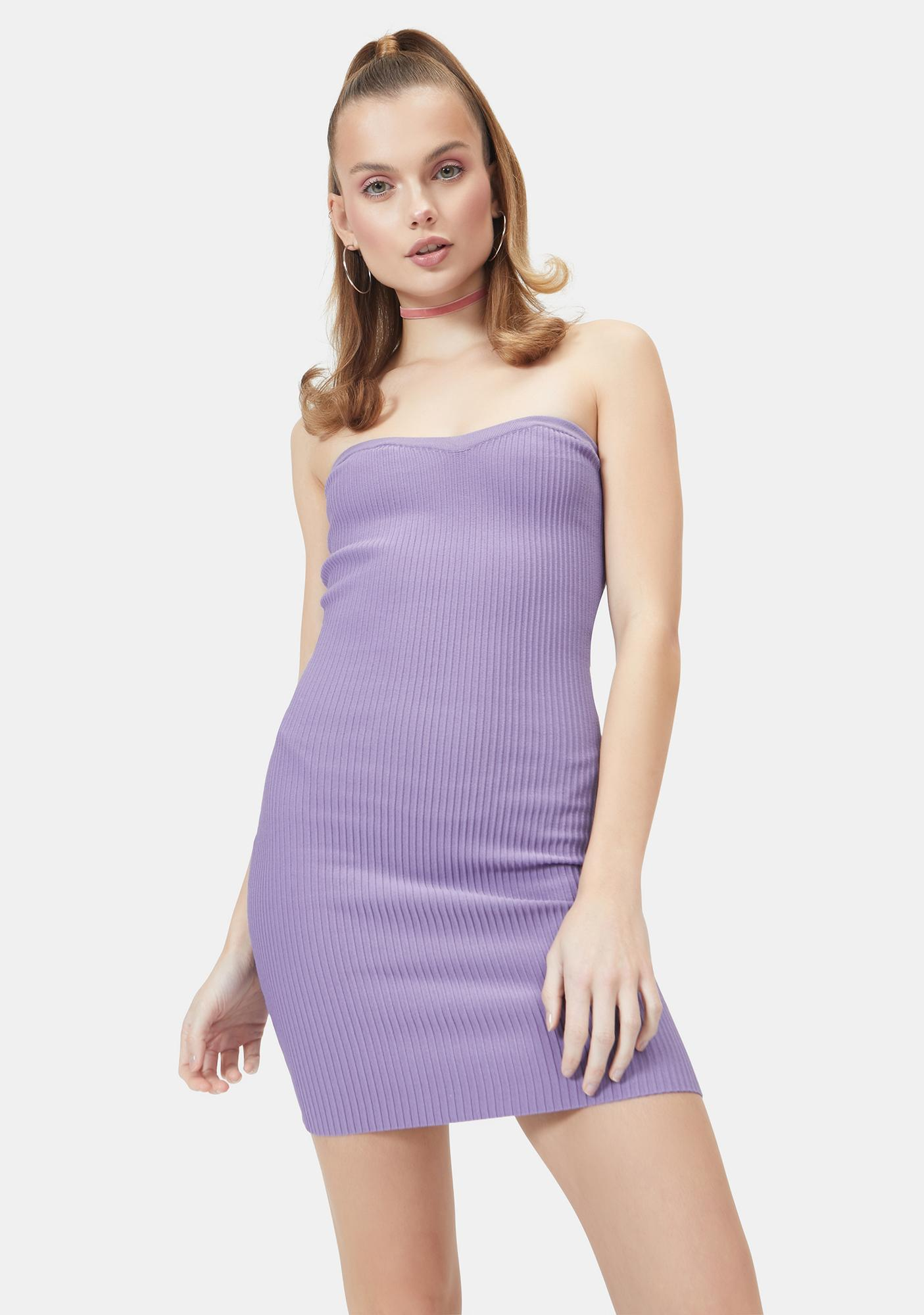 Pop To The Top Sweater Tube Dress