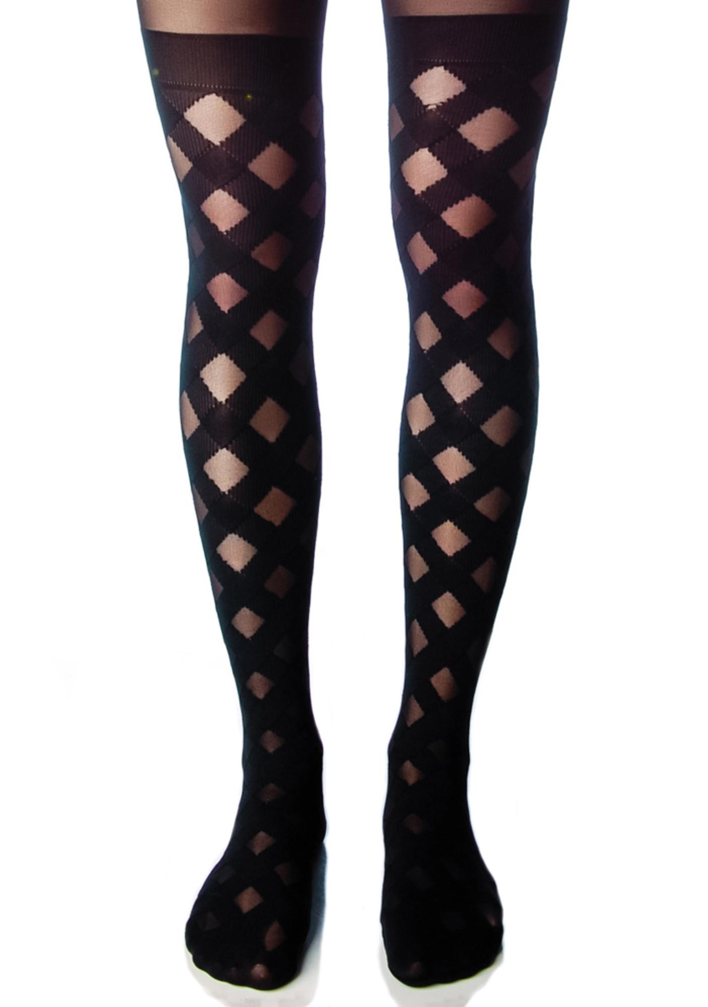 House of Holland x Pretty Polly Gingham Tights