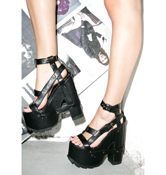 Y.R.U. Midnight Nightcall Platform Heels