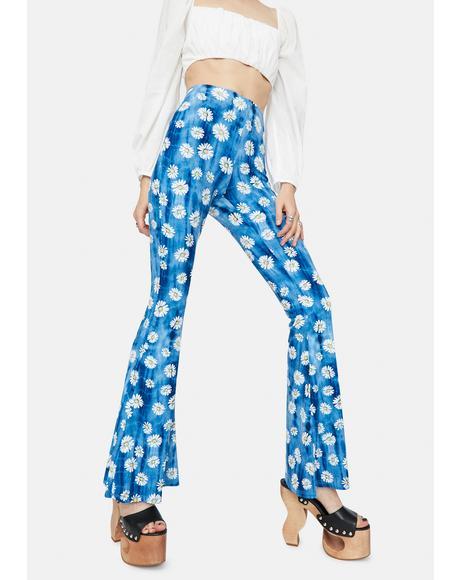 Daisy World Tie Dye Flare Pants