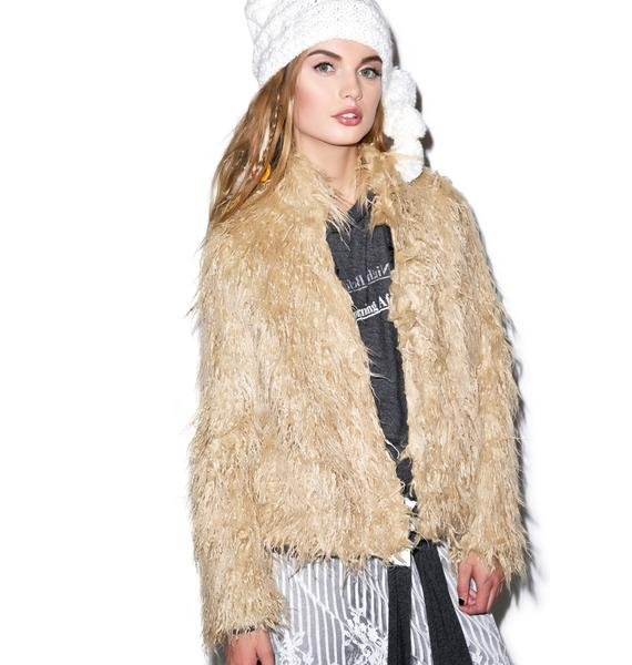 Lip Service Night Song Faux Fur Jacket