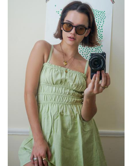 Lime Soft Girl Summer Sundress