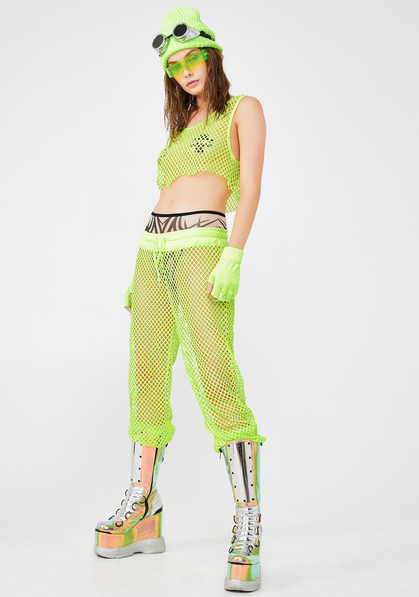 Club Exx Lime Burn Baby Mesh Pants