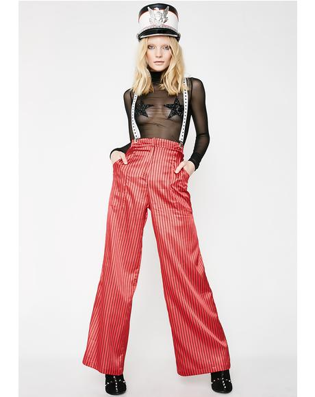 Pinstripe Oversized Trousers