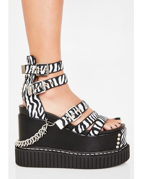 Zebra Zing Creeper Wedge Sandal