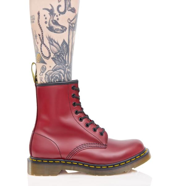 Dr. Martens Cherry Red 1460 8 Eye Boots
