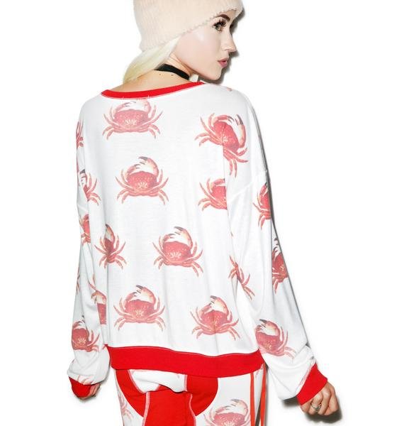Wildfox Couture Crabby Moonlight Sweater