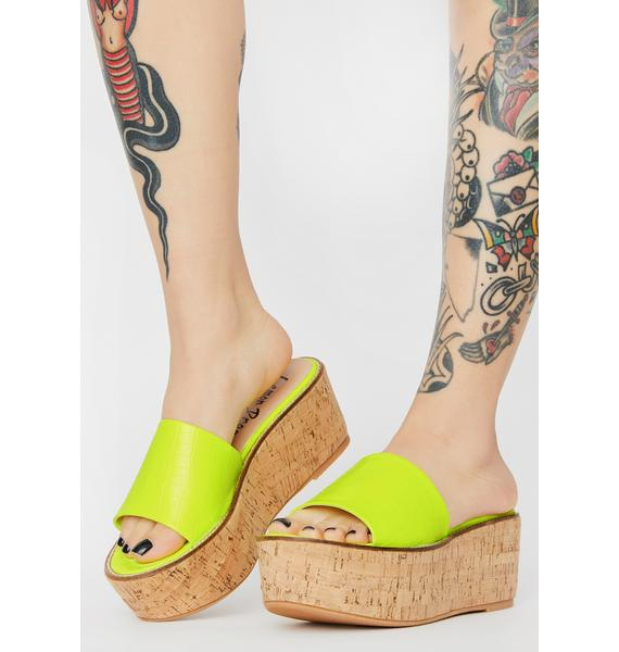 Lemon Drop by Privileged Fiji Platform Sandals