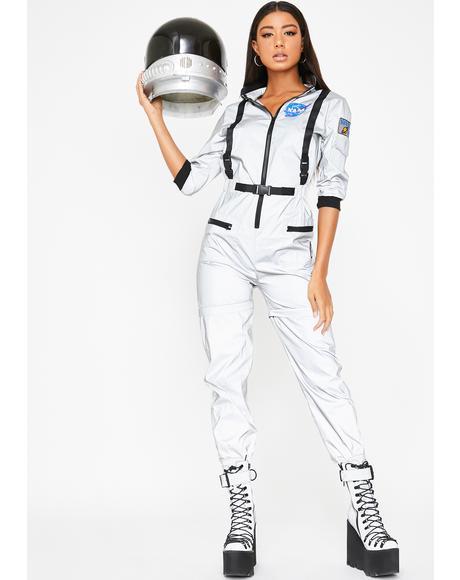 NASA-TY Reflective Flight Suit Costume