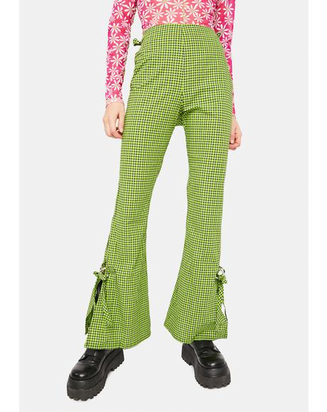 Trademark Gingham Flare Pants