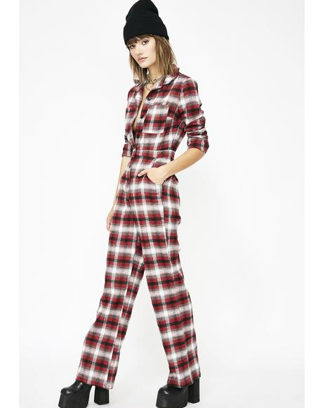 Cozy Daze Plaid Jumpsuit