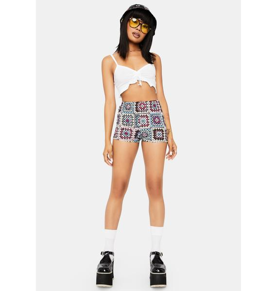 Sew Very Sweet Patchwork Print Shorts