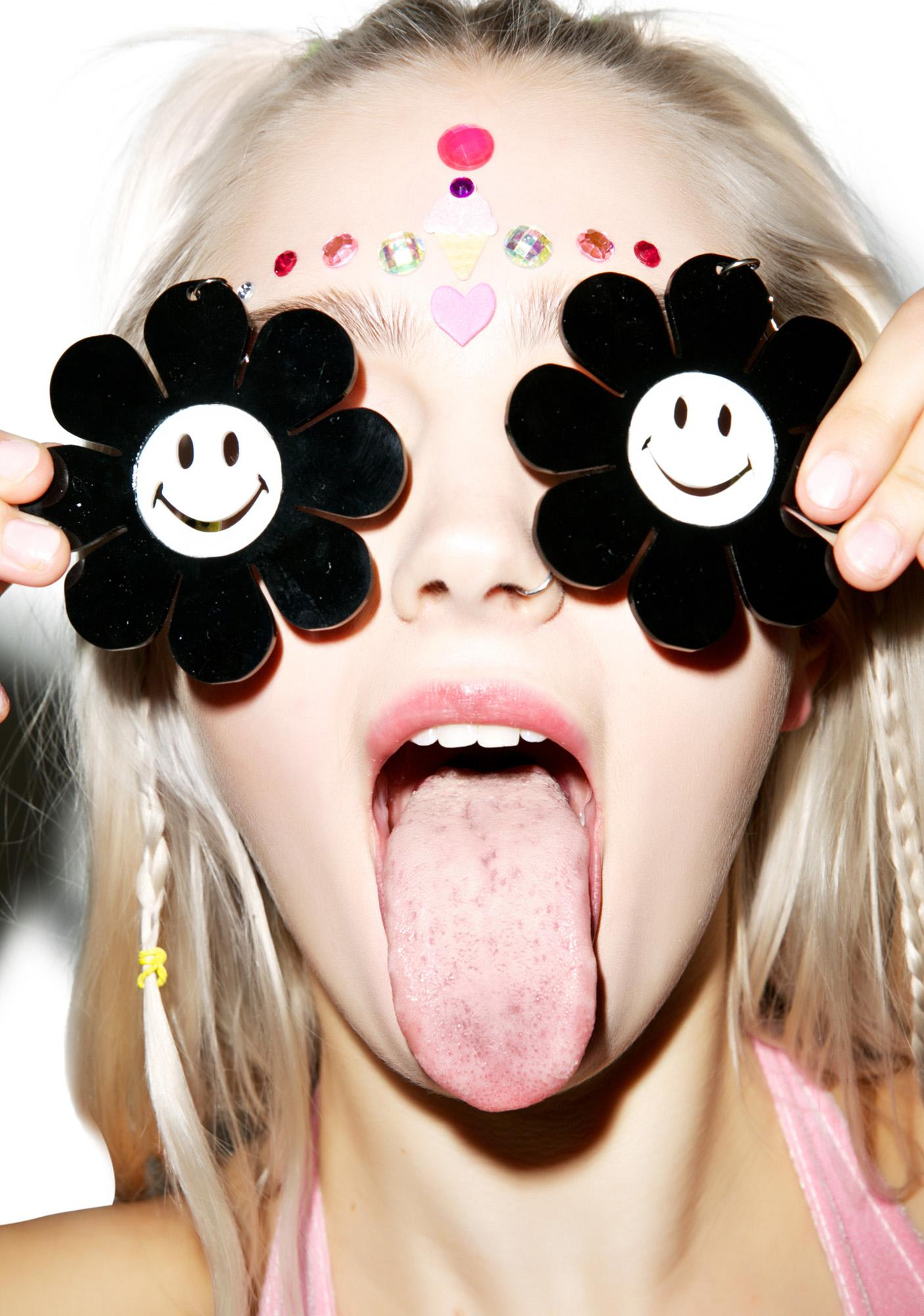 Marina Fini Happy Face Flower Power Earrings