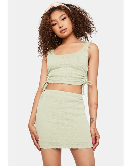 Now At Peace Knit Mini Skirt