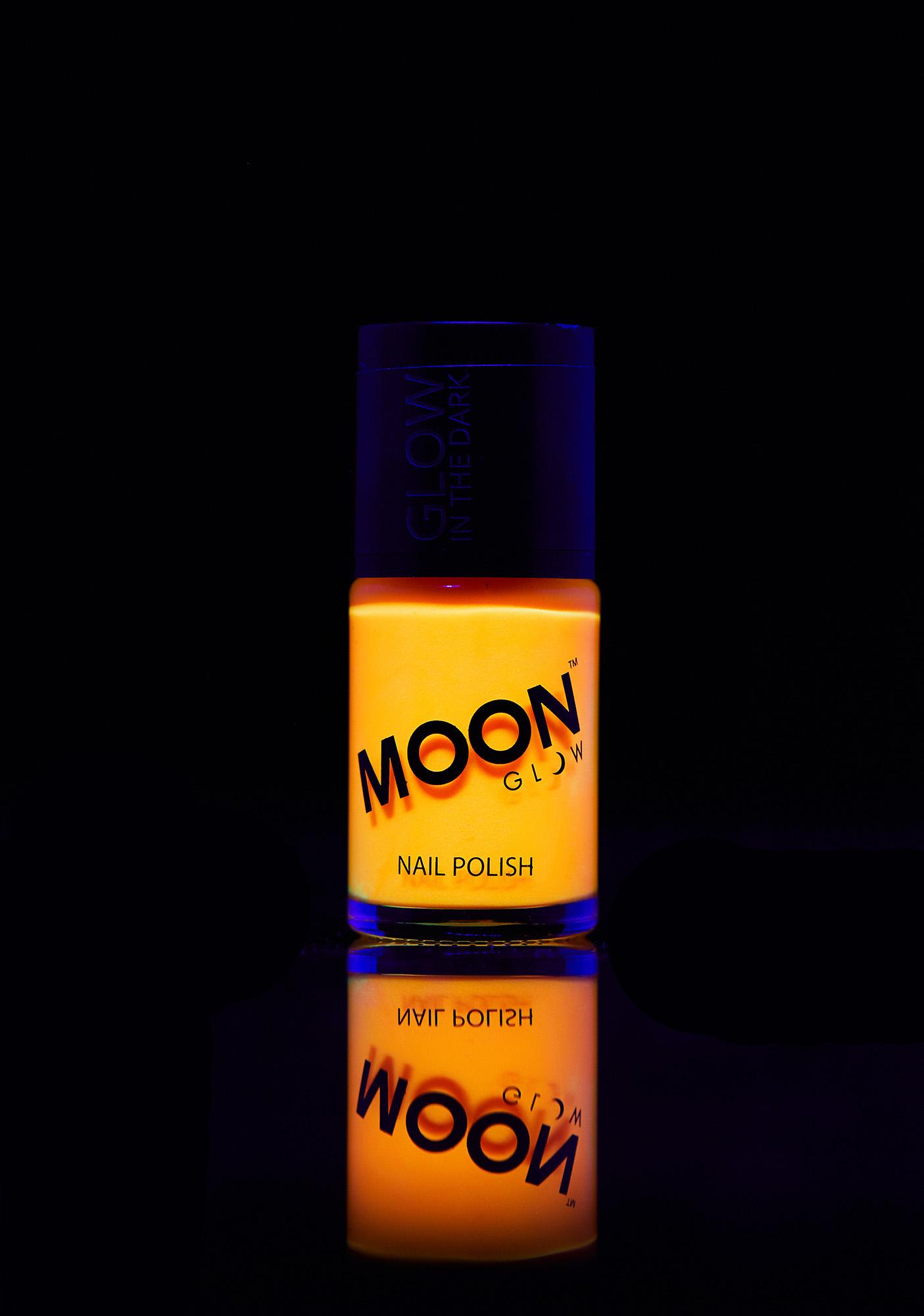 Moon Creations Orange Glow In The Dark Nail Varnish