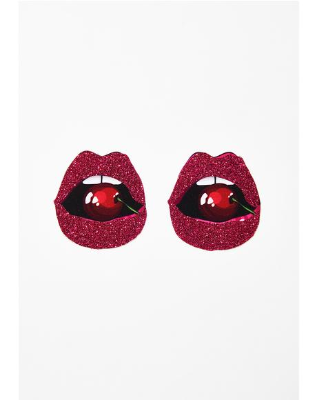 Cherry Poppin' Glitter Lip Pasties