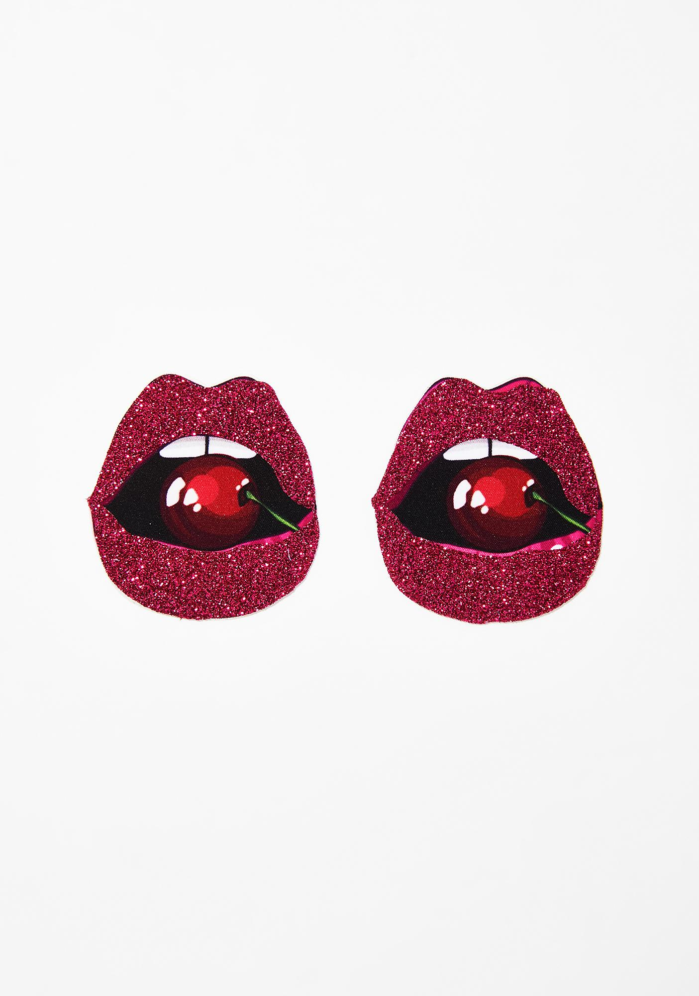 Neva Nude Cherry Poppin' Glitter Lip Pasties