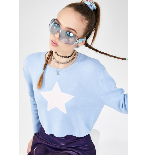 dELiA*s by Dolls Kill Rising Star Cropped Sweater