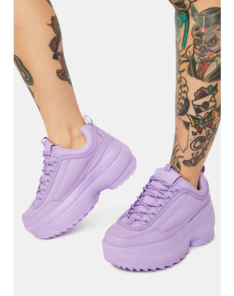Lavender Rec League Platform Sneakers