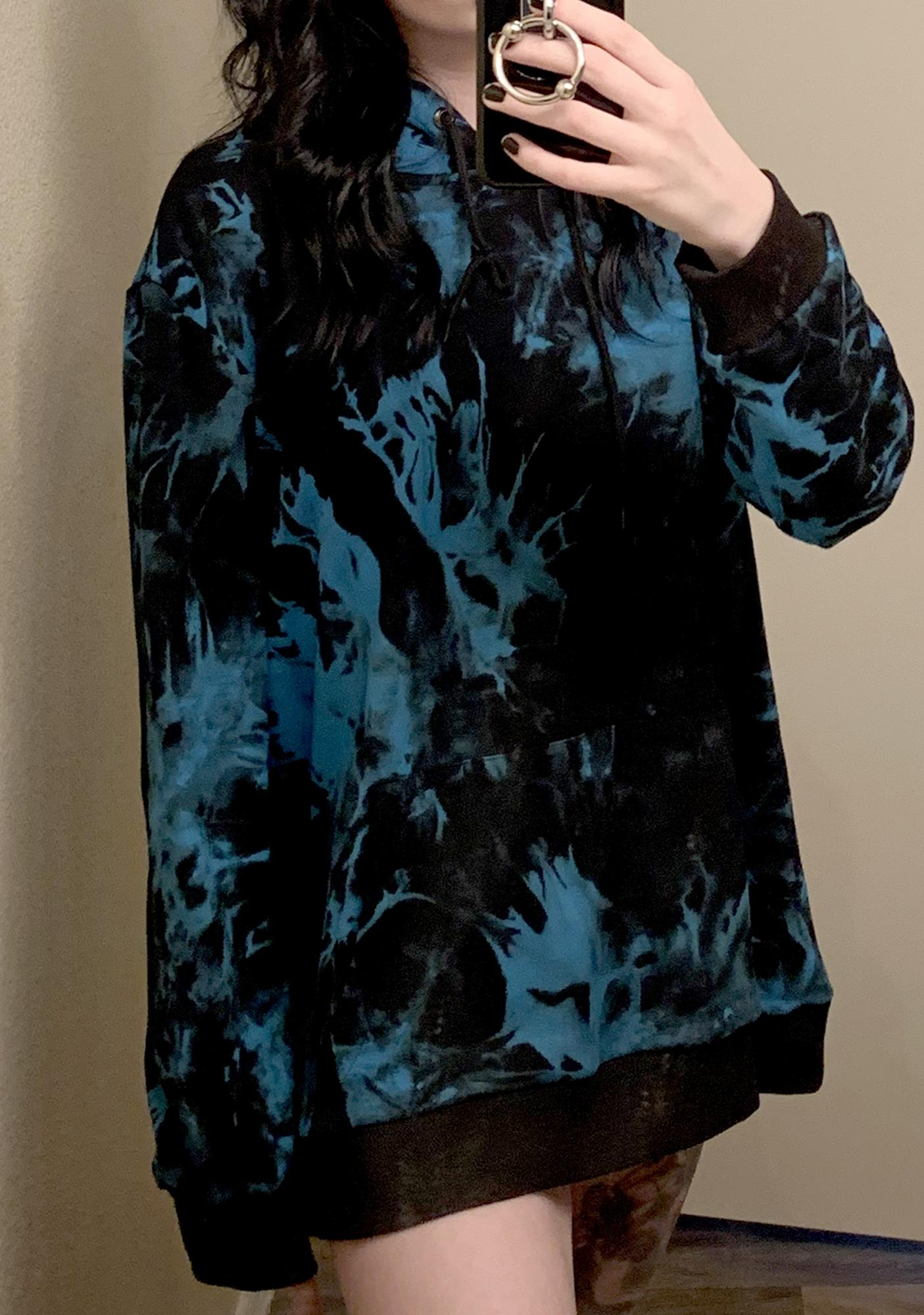 Current Mood Lucid Dark Dreams Tie Dye Hoodie