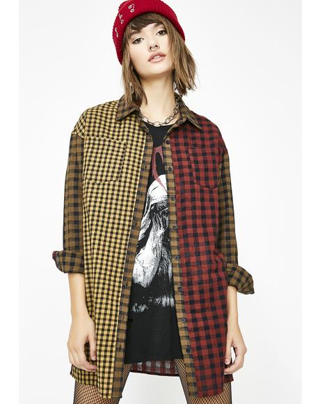 Bad Impressions Plaid Top