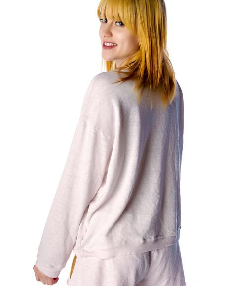 Breakfast Oversized Sweatshirt