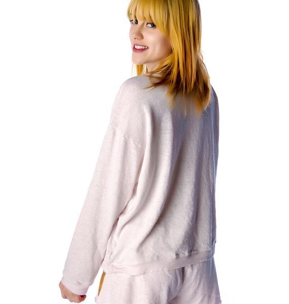 Wildfox Couture Breakfast Oversized Sweatshirt