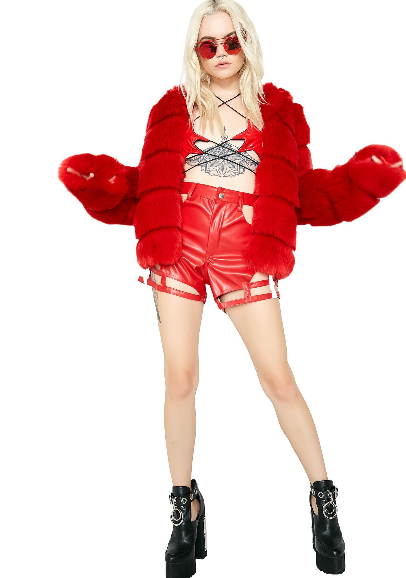 ESQAPE Motlii Red Shorts